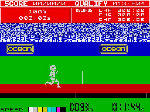 Daley Thomsons Decathlon ZX Spectrum screenshot