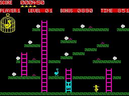 Chuckie Egg ZX Spectrum screenshot
