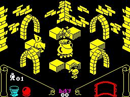 Knight Lore ZX Spectrum screenshot