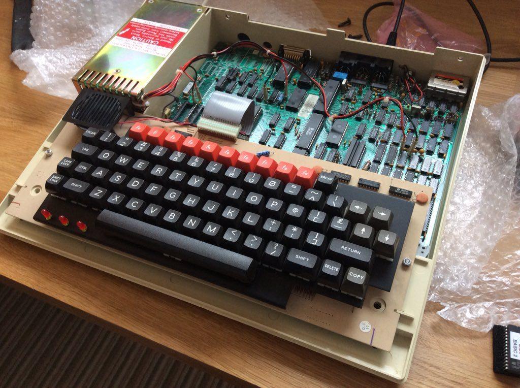 BBC Micro Case Internals PCB