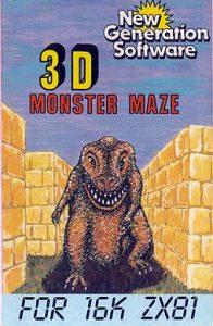 3D Monster Maze Cassette