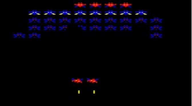 Arcadians retro game review for the BBC Micro