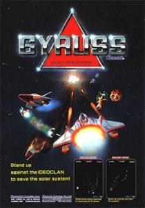 Gyruss arcade flyer