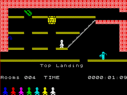 Jet Set Willy ZX spectrum screenshot