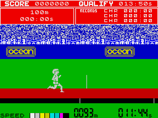 Daley Thomsons Decathlon ZX Spectrum screenshot