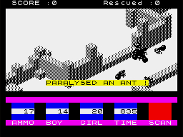 3d Ant Attack ZX Spectrum Screenshot