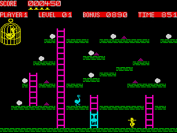 Chuckie Egg ZX Spectrum screenshot