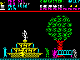 Everyones a wally ZX Spectrum screenshot microgen