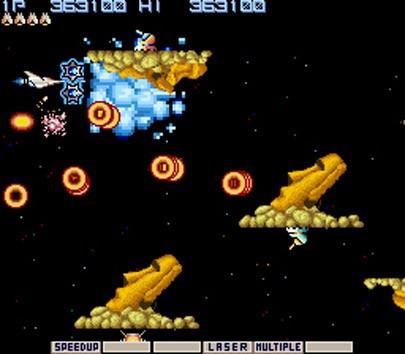 Gradius (aka Nemesis) arcade retro review