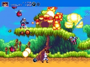 Gunstar Heroes Megadrive screenshot