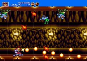 Gunstar Heroes Cavern Level