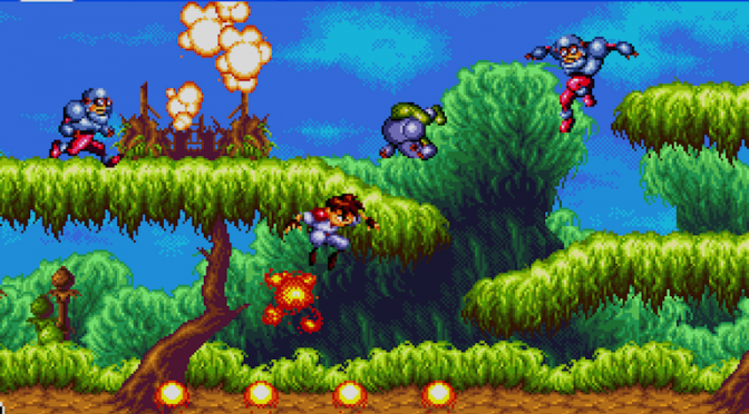 Gunstar Heroes for the Sega Megadrive