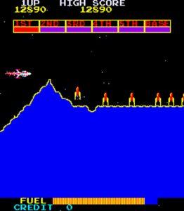 Scramble arcade game by Konami