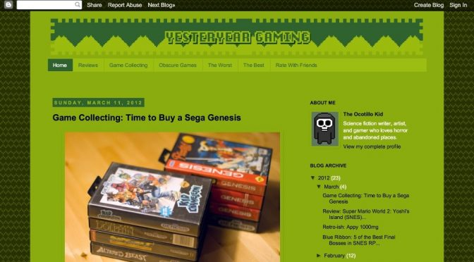 Retro blog review: yesteryear gaming