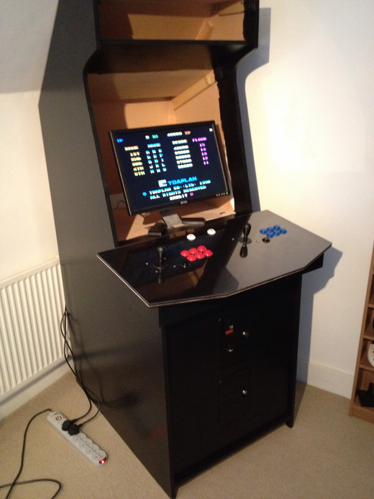 Mame Cabinet Project Build Complete Retrogamesnow