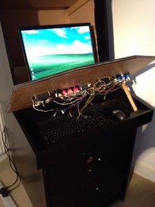 MAME Cabinet with Control Panel Lifted