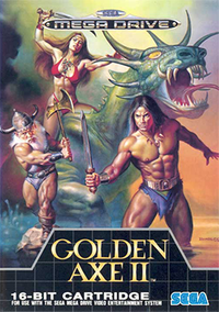 Sege Megadrive Golden Axe 2 Box Art