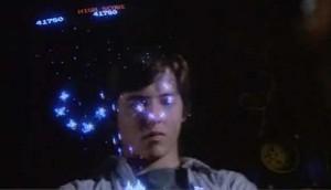 Matthew Broderick playing Galaga in War Games