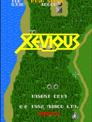 xevious arcade title screenshot