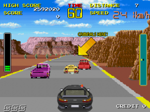 Chase HQ Arcade Screenshot