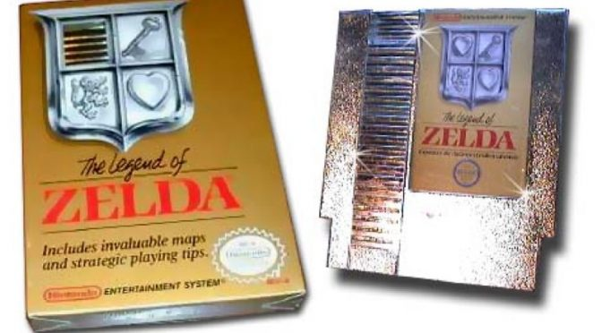 Gold Cartridge Legend of Zelda NES