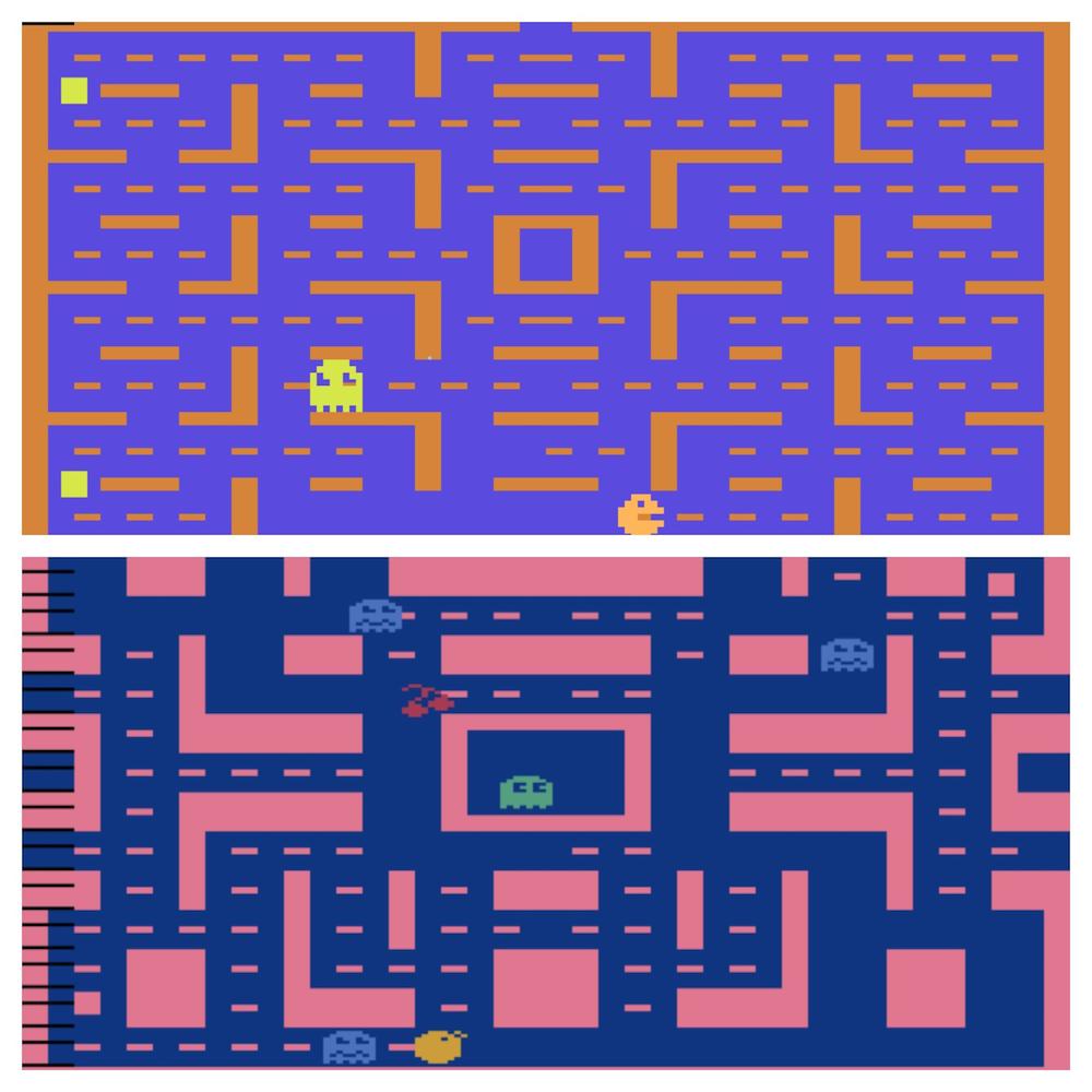 Atari 2600 PacMan vs Ms PacMan