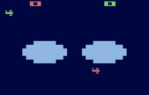 Atari 2600 Combat: Bi-Plane Battle