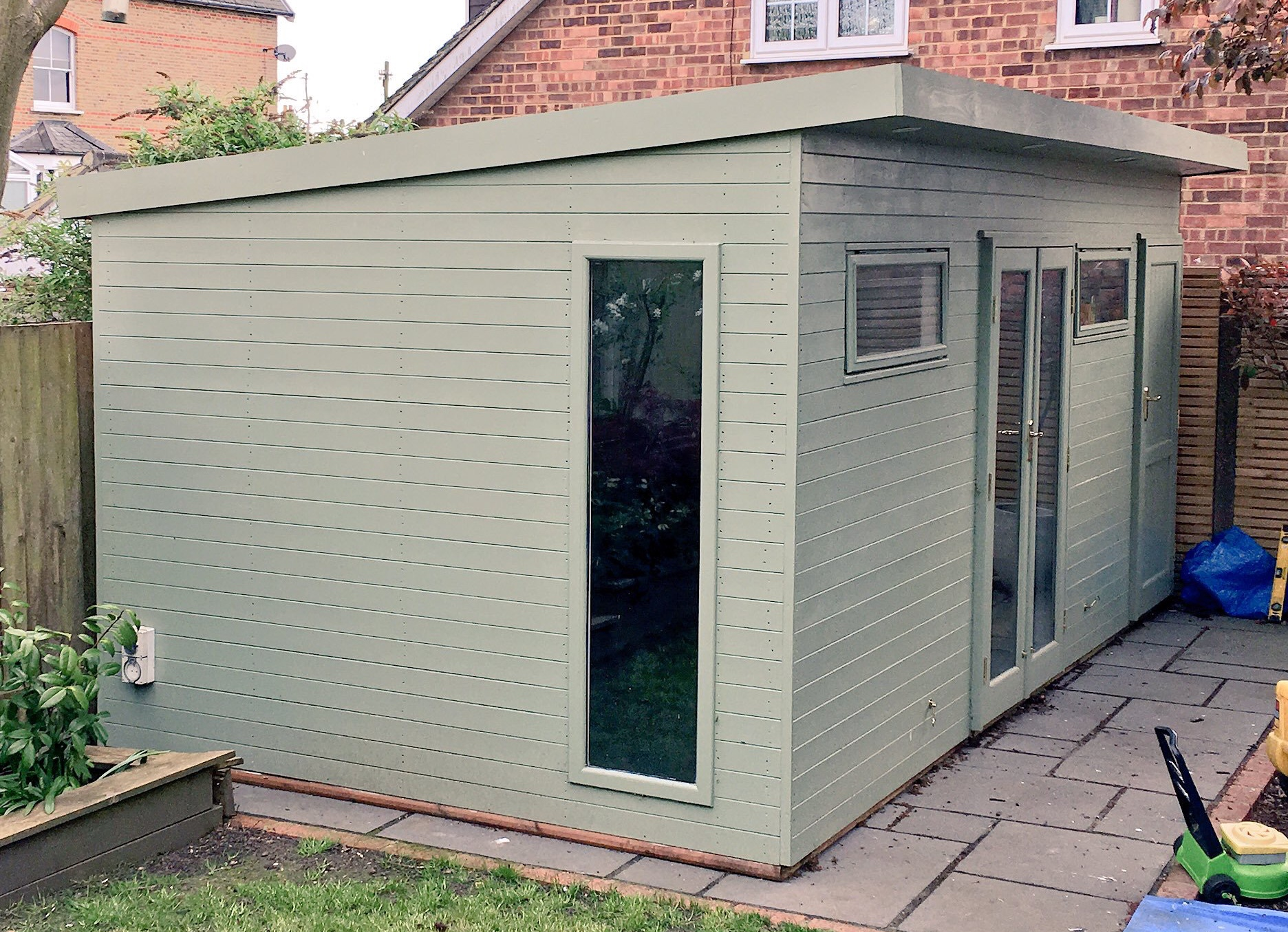 Arcade Shed painted