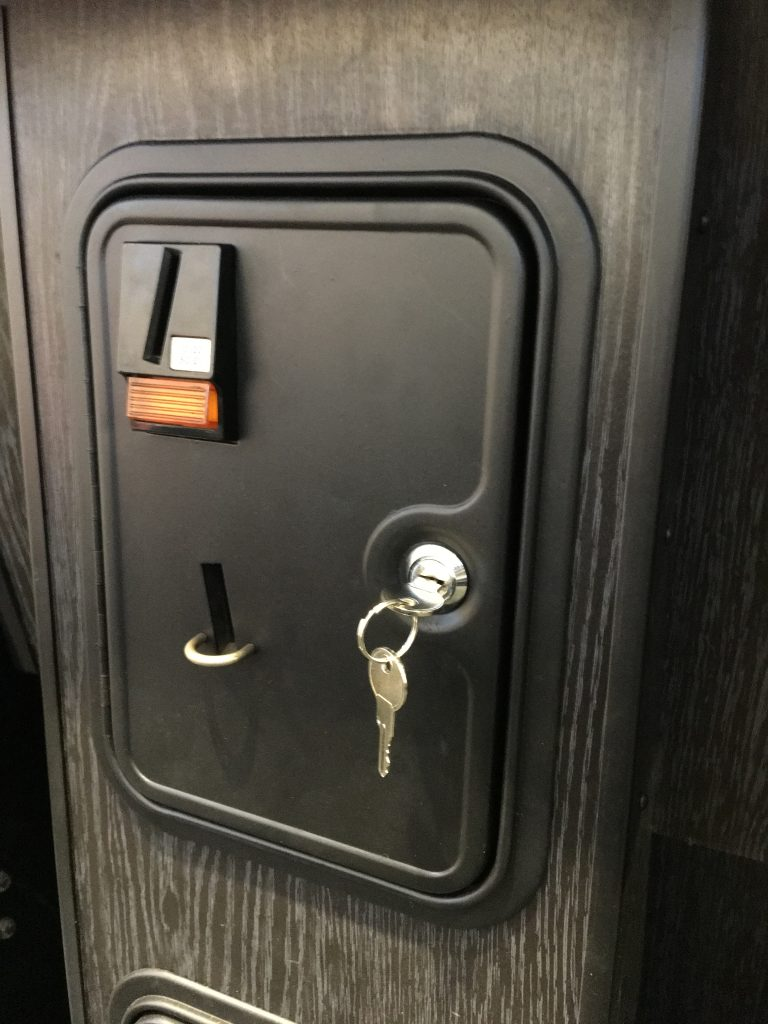 Finished coin door