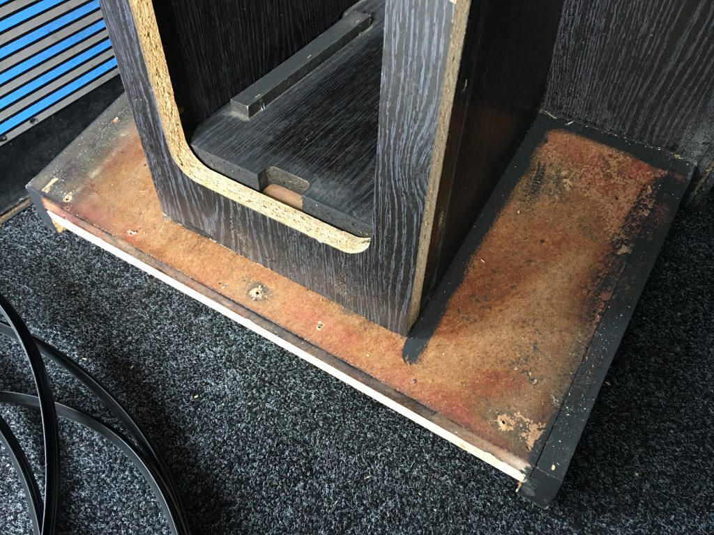 The base of the BAS cabinet